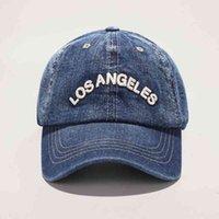 Primavera nueva mezclilla gorras de béisbol los angeles retro beepallcaps unisex casual bordado sombrero