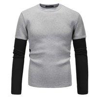 Herren Hoodies Modedesigner Frühling und Herbstraum Baumwolle Pullover Langarm Zwei Stück Spleißen Räumlichkeitsanzug Sweatshirts Perfekt für Jeans und Hosen