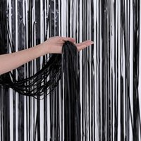 Party Decoration 2M 3M Black Red Rose Gold Rain Curtain Bachelorette Backdrop Birthday Wedding Adult Anniversary Wall Drapes