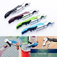 Corkscrew wine Bottle Openers multi Colors Double Reach Wine beer bottle Opener home kitchen tools dff1904 Factory price expert design Quality Latest Style