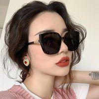Бренд дизайнер Cateye Женщины Солнцезащитные очки 2021 Ретро Негабаритные Женские Солнцезащитные Очки Роскошные Квадратные Очки UV400