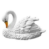 الراتنج بجعة التماثيل بركة منحوتات واقعية الفن الديكور في الهواء الطلق ساحة العائمة مصغرة الحيوان المياه الشاطئ حديقة تماثيل الديكور س