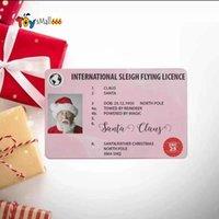 Christmas Gift Santa Greeting Cards 86*54mm Santa Claus Funny Driver's License Card FY2959