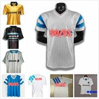 Olympique de Marseille Ретро Футбол Футбол Футбол 1990 1991 1992 1993 1998 Дополнительная палата BOLI 11/12 старинные футболки Maillot