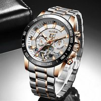 Watch Men 2021 LIGE Clock Fashion Mechanical Wristwatches For Mens Watches Top Waterproof Automatic Watches+Box