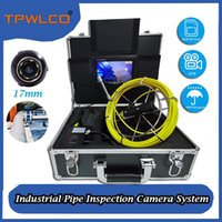 Industrial Pipe Inspection Camera System With 7inch Screen DVR 20m Cable 17mm Waterproof Plumbing IP Cameras