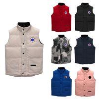 Роскошный вид жилет куртка стиль мужская дизайнерская куртка пальто мужчины и женщины высокое качество зимой мужской теплый жилет-ca02-04