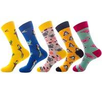 1 Pair Brand Diamond Ramen Astronauta Pattern Hip Hop Cool Socks per uomo Inverno Spessa Pattino Lungo Skate Funny Socks colorato Mens Dochiness