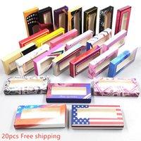 20pcs Carton Paper Packing Box for 25mm EyeLash Wholesale Bulk Cheap Pretty Lashes Storage Packaging