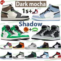 Silver Tee 1 1S Hommes Basketball Chaussures High Nomb Mocha Shadow Unc Patent Université Bleu Fumée Fumée Fumée Gris Chicago Twist Royal Sports Sneakers