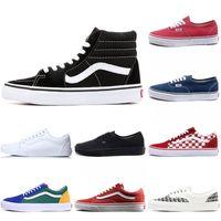 2021 Más baratos para hombre zapatos de lona para mujer zapatos casuales Skate off the Wall Old Skool Miedo a Dios Black White Deckered Designer Skating Sneakers 36-44