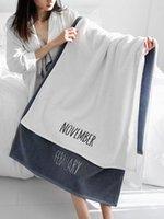 Towel Luxury Letter Brand White Embroidered Set Fashion Comfort Plush Soft Sport Bath Face