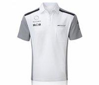 2021 F1 Ventola Abbigliamento Summer Zaper Polo Camicia Hamilton Manica corta Team Soluzione Formula One Collo rotondo Team Asciugatura Asciugatura T-shirt T-shirt Downhill Jersey può essere personalizzato