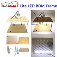Lite LED BDM-Rahmen 4pcs Pin-Sondenadapter-Upgrade ECU-Programmierung AdapterFits für Pinselwrite ModifiedProgrammierung Diagnosewerkzeuge
