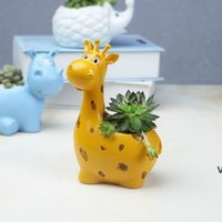 Resina Flower Pot Decorazioni Giardino Mini Plantatori succulenti Pentole Modern Animal Flowerpot Decorazione della casa Accessori HWD7142