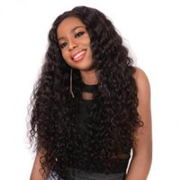 Brazilian Deep Curly Lace Front Human Hair Wigs With Baby Hair Glueless Lace Wigs 130% Density Natural Black