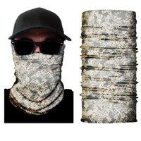 Papas de ciclismo Máscaras 5pcs / lote 3D Digital Camuflaje Cuello máscara máscara Magic Headscarf Multifuncional Multifuncional al por mayor A2041YPC