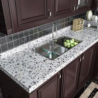 Wall Stickers Granite Marble Wallpaper Kitchen Self-adhesive Furniture Renovation Films Floor Waterproof Decorative Modern Home Decor