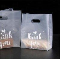 شكرا لك حقيبة هدية البلاستيك القماش حقيبة التخزين حقيبة التسوق مع مقبض حزب الزفاف البلاستيك الحلوى كعكة تغليف أكياس 389 v2