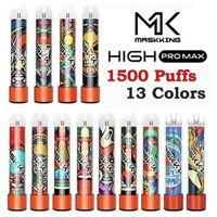 Disaposable Device Electronic Cigarettes kit Maskking High Pro Max 1500 Puffs Vape Pen 4.5ml Cartridge MK Vapor VS Puff Bars Plus Bang XXL Xtra