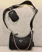 Sale 3 pièces Homme de haute qualité homme femmes luxurys designers sacs sacs à main Hobo Pursards Lady Sac à main Hookbody Channel Channel Totes Sac à portefeuille de mode