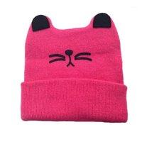 Bonés chapéus chapéu nascido chapéu bebê desenhos animados boné de confecção de tricô crianças crianças meninos meninas gato orelha beanie infantil outono inverno gorro infantil1