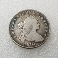 Coin Collection US 1801 Draped Bust Dollar Heraldic Eagle Silver Plated Copy Metal Craft Dies Manufacturing Factory Lot