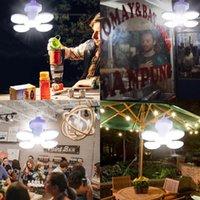 Tente de lanterne de camping à LED rechargeable de la lumière pliable Portable Portable Night Night Market Solar CC Charge UFO Lampe pour les lanternes de jardin