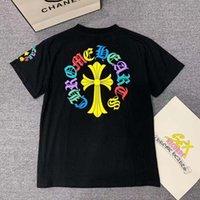 Çapraz 2021 Crosin Yaz Moda Kısa Kollu T-shirt Renk At Nalı Baskı Gevşek Pamuk T Unisex DX