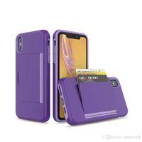 İPhone 12 Pro Max 11 XS 6 7 8 Durumda Cüzdan Kart Yuvası Tutucu Gizli Geri Tam Vücut Şok Emilimi Koruyucu Telefon Kılıfları Kapak