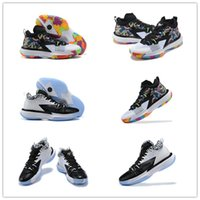 2021 الأزياء jumpman صهيون 1 PF أحذية كرة السلة رجالي عالية الجودة أحذية رياضية بيضاء وأسود الولايات المتحدة 40-46