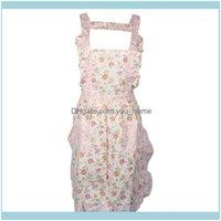 Textiles & Gardenfashion Women Home Kitchen Cooking Bib Flower Style Pocket Lace Girls Apron Dress Avental Aprons For Woman #301 Drop Delive