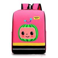 Cocomelon JJ 소년의 만화 인쇄 된 배낭 대형 어린이 schoolbag 귀여운 키즈 소년 소녀 유치원 어깨 가방 G506WC0