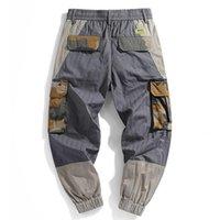 Pantaloni merci di Leviortin Mens Moda 2021 Pantaloni laterali patchwork Joggers Hip Hop Giapponese Streetwear Pantaloni per uomo