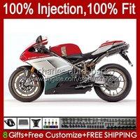 Injection Bodys For DUCATI 1198R 848 1098 1198 S R Red green 2007 2008 2009 2010 2011 2012 18No.4 Bodywork 848S 1098S 1198S 848R 1098R 07 08 09 10 11 12 OEM Fairing Kit