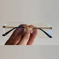 uxury designer Eyeglasses Optical Glasses Leopard head decoration Frame Rimless Anti Round Classic Men Women Accessories Fashion Sunglasses online frames