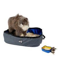 Katze Betten Möbel Wasserdichte Wurf Tragbare Faltbare Outdoor Reise in OODOOR PET Sauberer Box Container Toilettentrainer Haustiere Reinigung Accesso