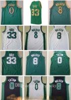 Vintage Erkekler Retro Basketbol Jayson 0 Tatum Kemba 8 Walker Jersey Larry 33 Kuş Paul 34 Pierce Bill 6 Russell Kevin 5 Garnett Jersey Yüksek kaliteli