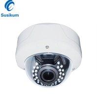 Kameras 4MP Dome Outdoor-Kamera 2.8-12mm Handbuch Zoom 30m Nachtsicht Infrarotüberwachungssicherheit Ahd Wasserdicht mit OSD-Menü