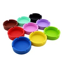 Silicone Ashtray Creative Round Silicones Ashtrays Anti-shock Smoke Ash Tray Fashion Environmental Smoking Accessories