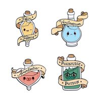 Pins, Brooches Emotional Reagent Pins Mood Potion Enamel Cartoon Badges Denim Clothes Bag Gifts For Friends