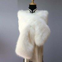 Women faux Fur Capes Wedding Shawls Wraps Bridal Jacket Formal Party Shrug Cape