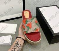 Slipper Angelina Sandalen erhöhen -jacquard Bio dick Denim Sohlen Slides Luxurys Designer Hausschuhe Sommer Flache Flip Flops Spike Q7TZ