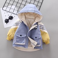 Down Coat Baby Boys Warm Outerwear Winter Toddler Cotton Thick Parkas For Infant Casual Clothing Children Coats Hodies Jackets