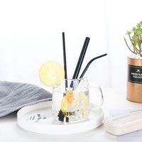 Top Moda colorato riutilizzabile cannucce paglie set di metallo di alta qualità paglia con spazzola di pulizia Regali creativi Accessori da cucina ZWL155