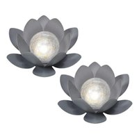 2pc Solar Powered String Lights Outdoor Led Lotus Flower Festoon Fairy Light Decorative Lighting For Garden Fence Decorations L3 Objects & F