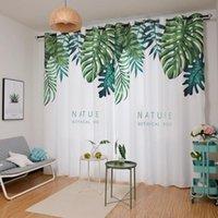 Rzcortinas Современные шторы для гостиной спальня простые и мода занавес листьев подорожник напечатаны слепые европейские затенения драпировки