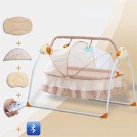 Baby Cribs Multifunctional Crib Intelligent Electric Portable Bed Bluetooth Music Cradle Sleepy Cuna Para