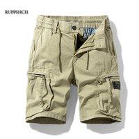 Ruppshch Hommes Été Nouveau Casual Casual Militaire de poche Militaire Pantalons Shorts Mode Twill Coton Cordonfrages Men Shorts P0806