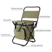 Рыболовный стул сумка складное кресло портативный пакет кулер изолированный пикник кемпинги стул туризм